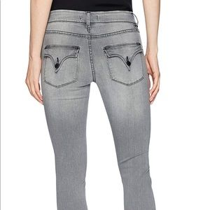 Hudson Collin Skinny Jeans Grey 26 Raw Hem